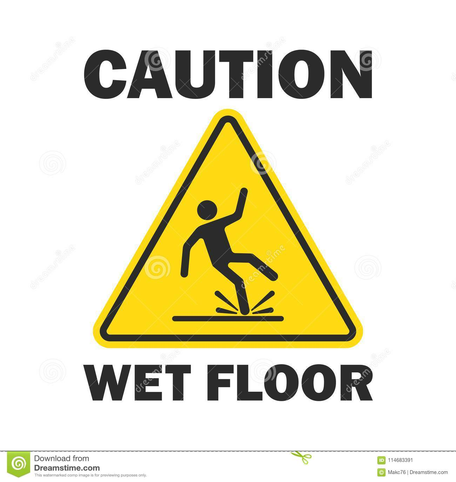 Achtung-nasser Fußboden