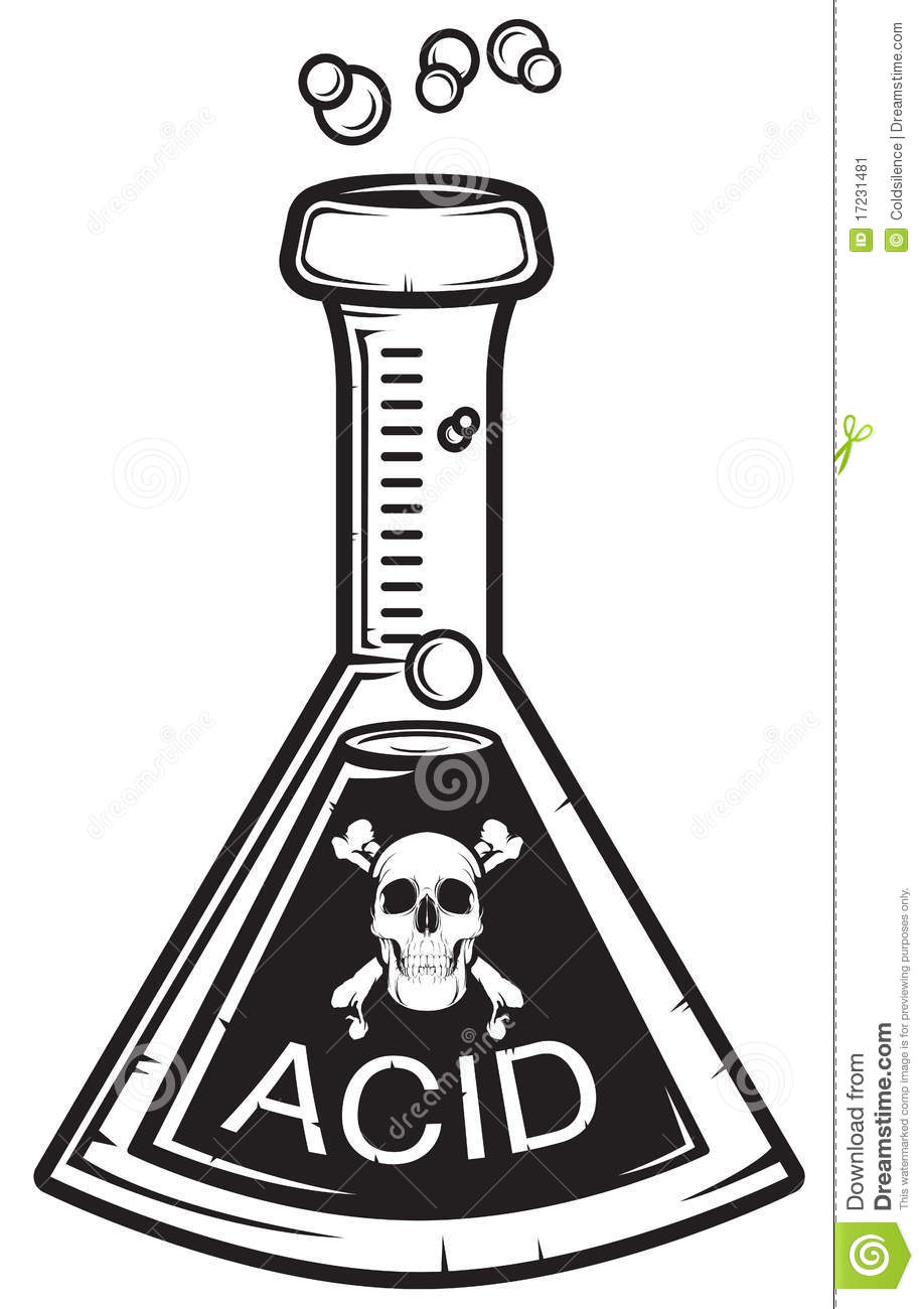 acid stock illustration  illustration of skull  medicine