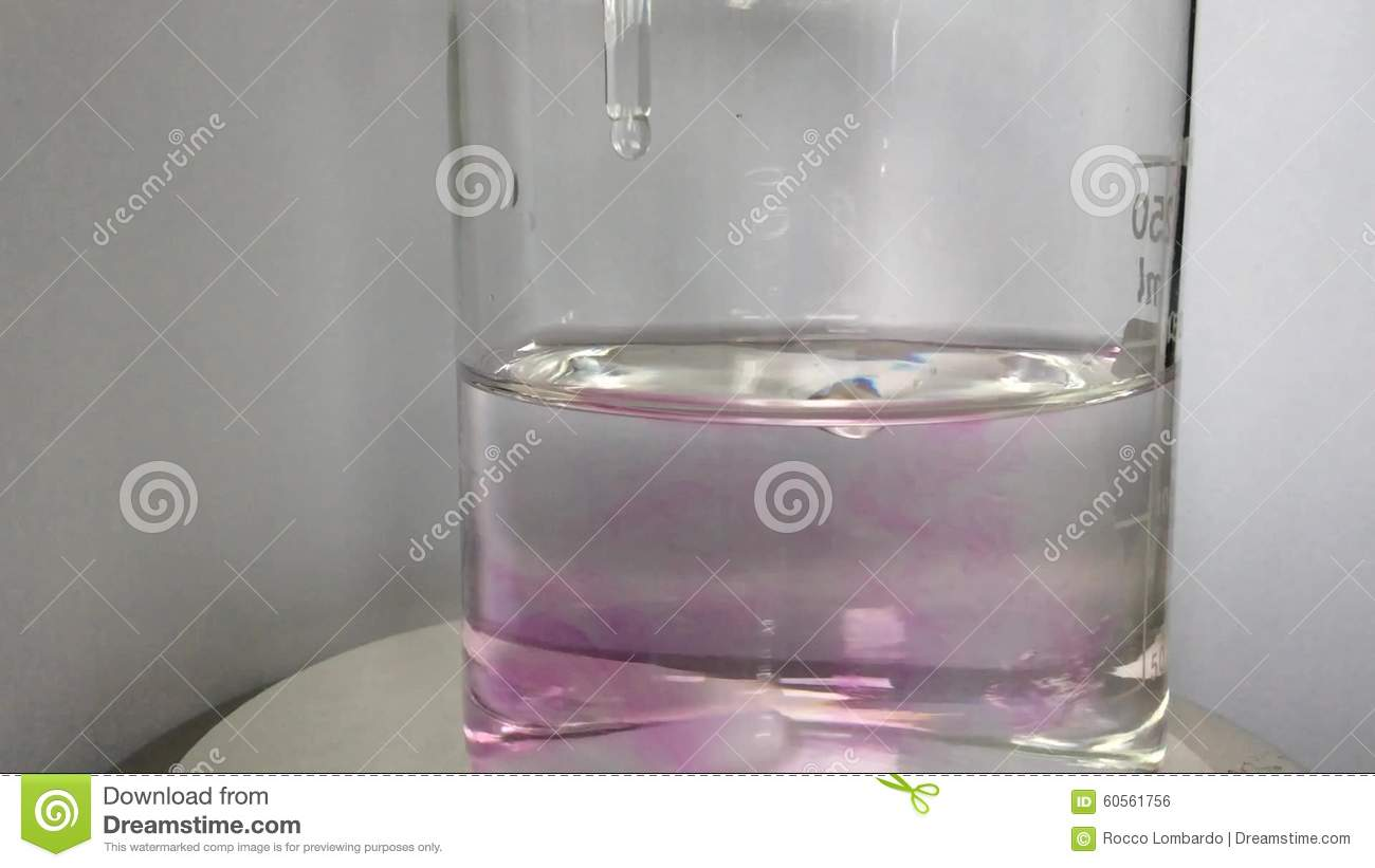Acid base titration stock footage. Image of titration - 60561756 for Phenolphthalein Titration  75tgx