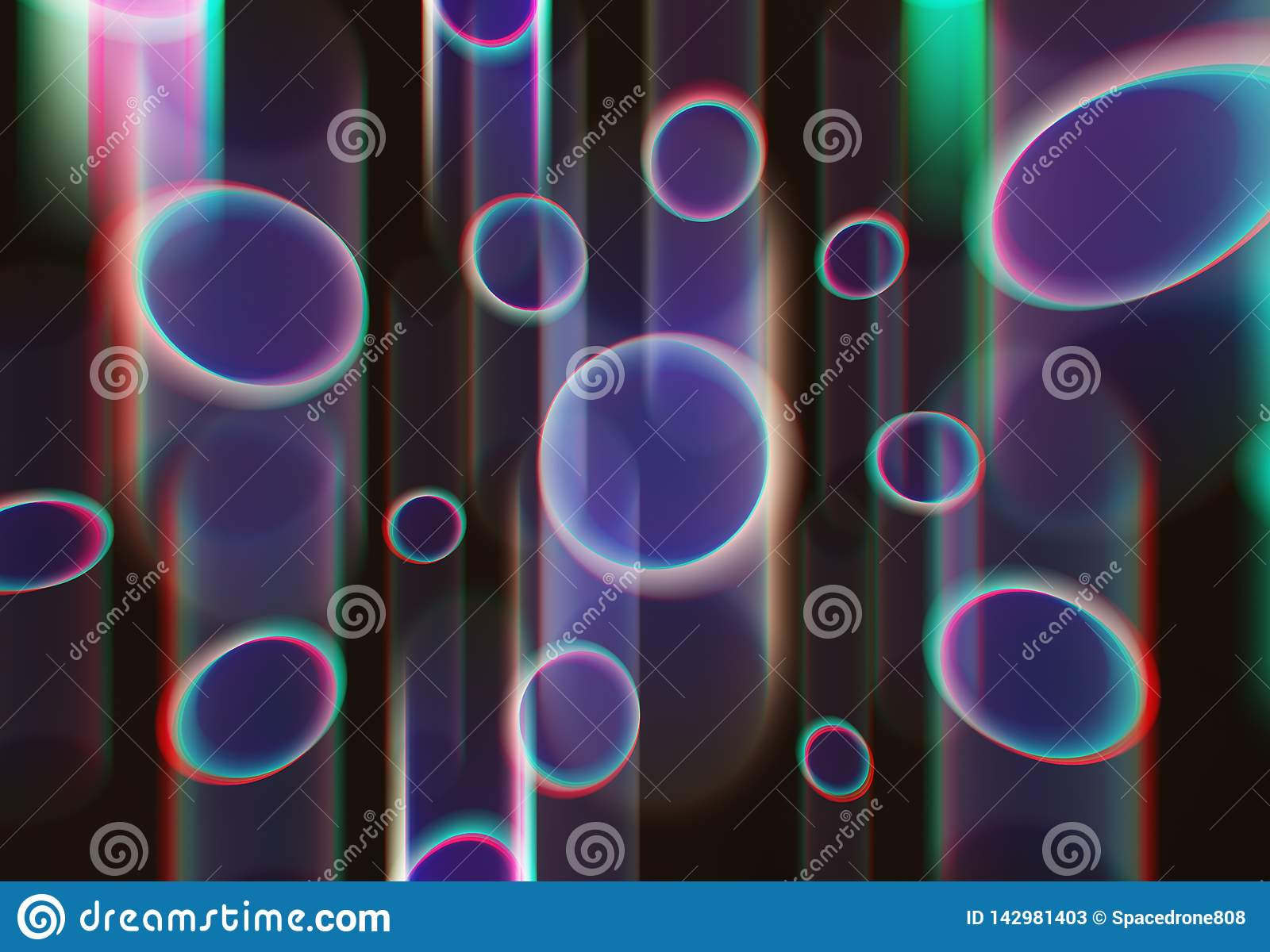 Acid bubble shaped objects illustration texture background