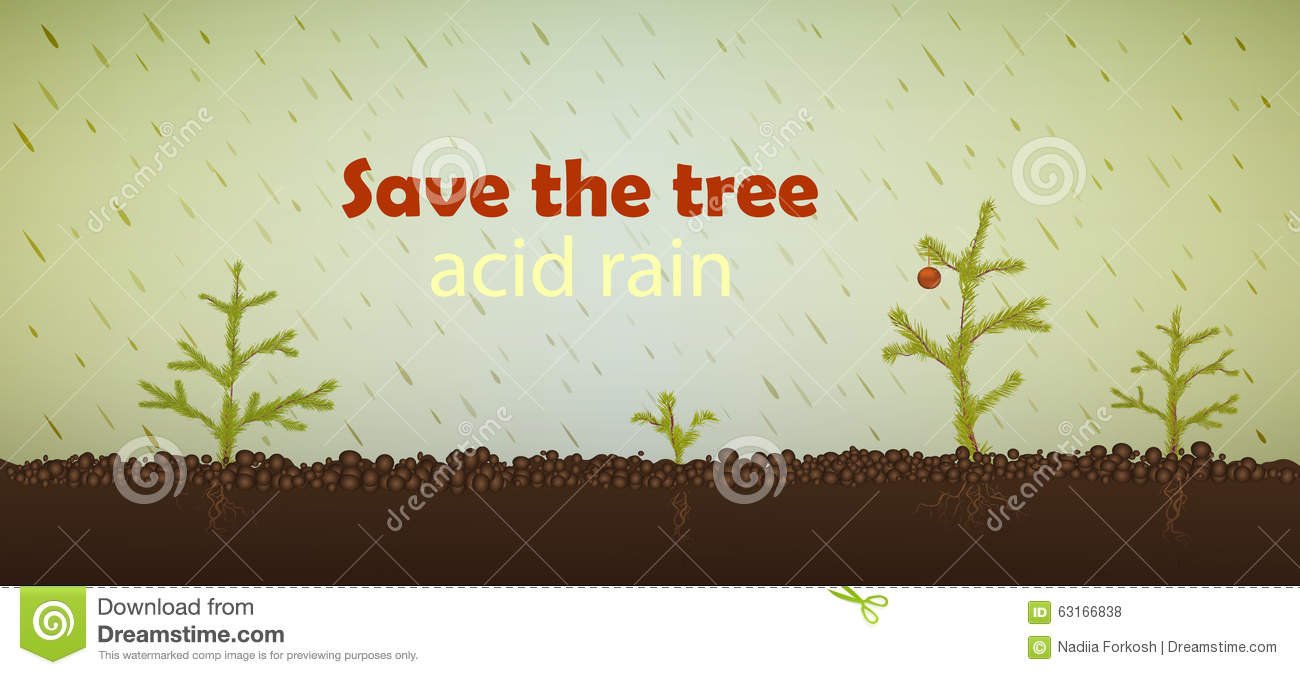 acid rain stock vector image 63166838