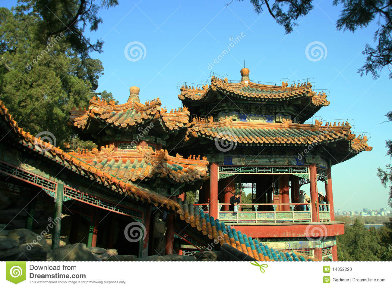 Acient Chinese Pavilion in summer palace