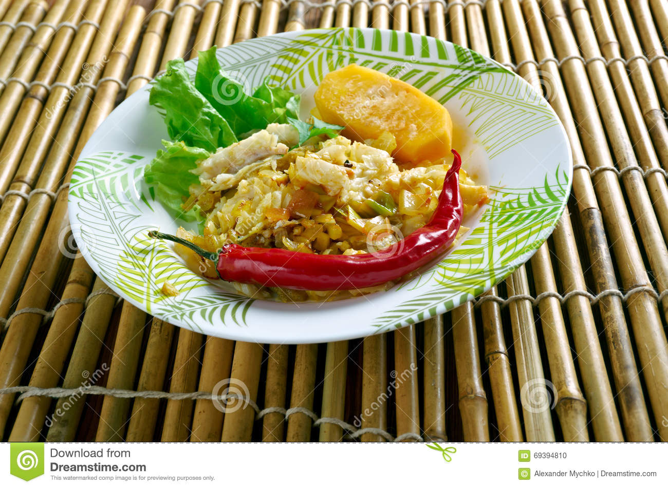 Ackee saltfish stock photography for Ackee bamboo jamaican cuisine