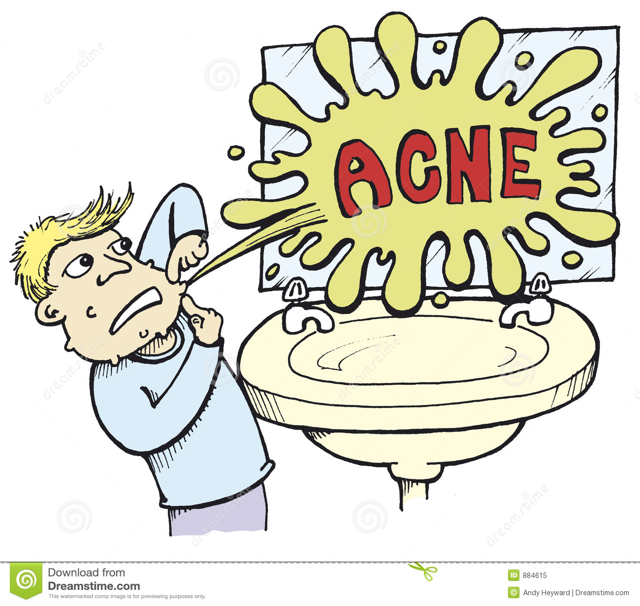 Acne 01 Stock Illustration  Illustration Of Graphic  Cartoon