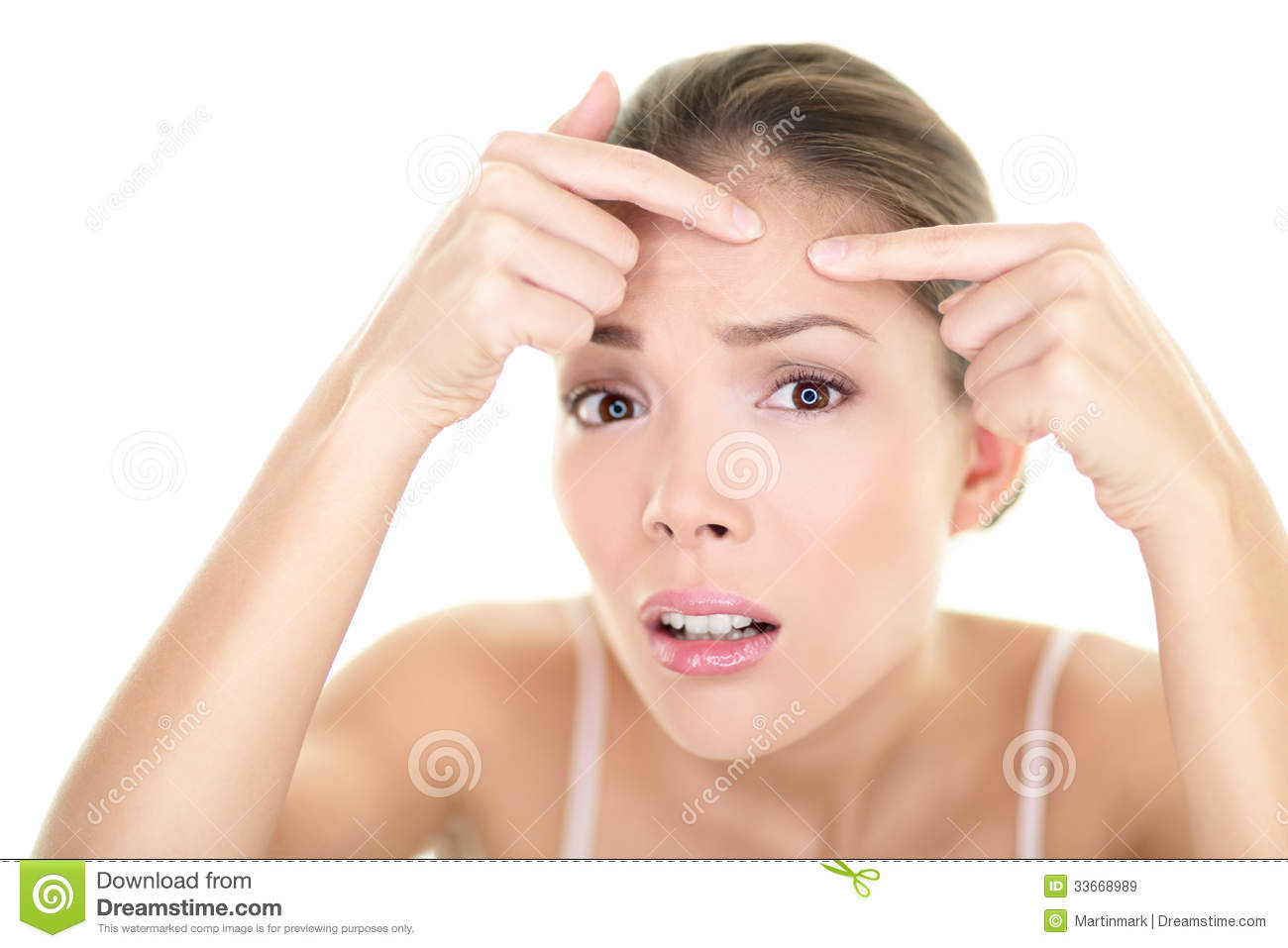 Download Acne Spot Pimple Spot Skin Care Girl Skin Problem Stock Image - Image of face, female: 33668989