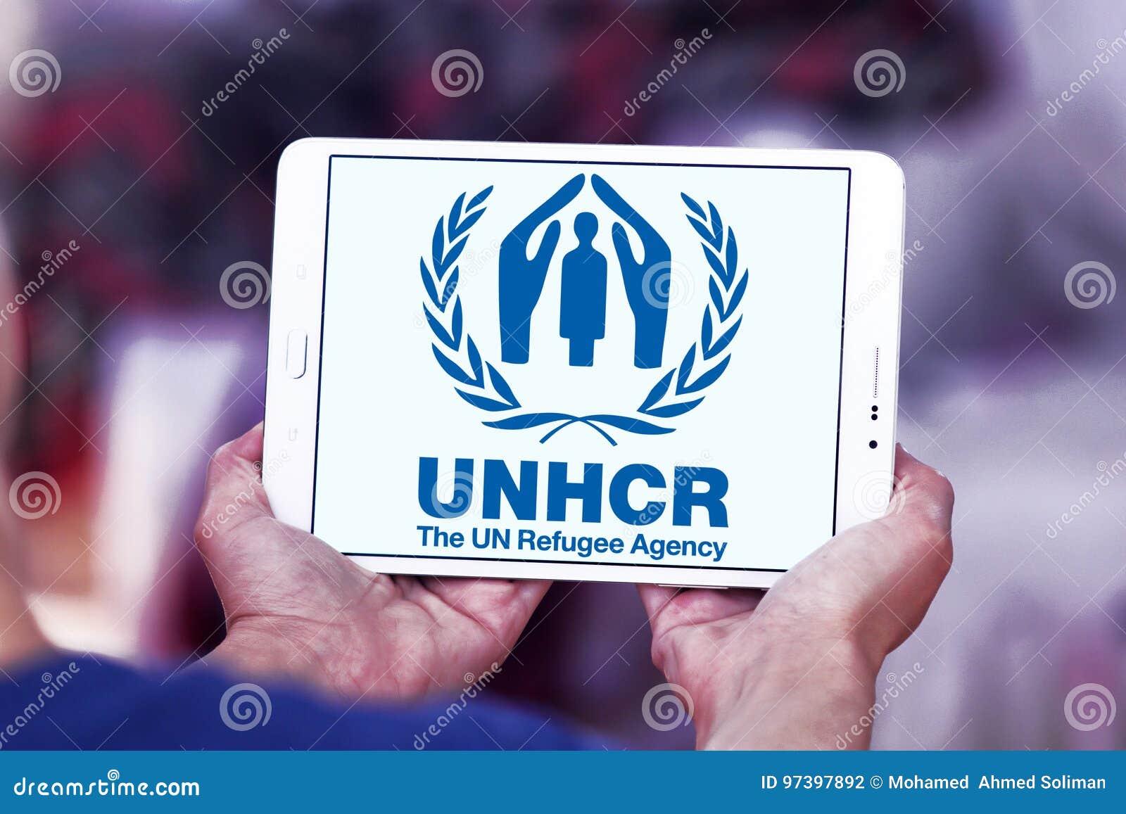 ACNUR, agencia del refugiado de la O.N.U, logotipo