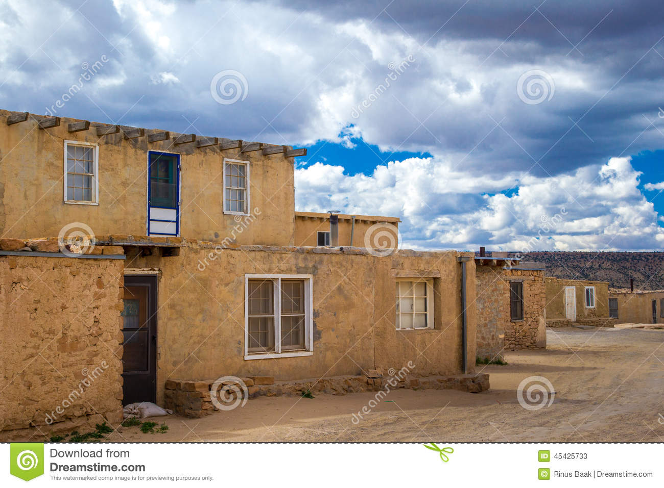 Acoma pueblo stock photo image 45425733 for Adobe construction pueblo co