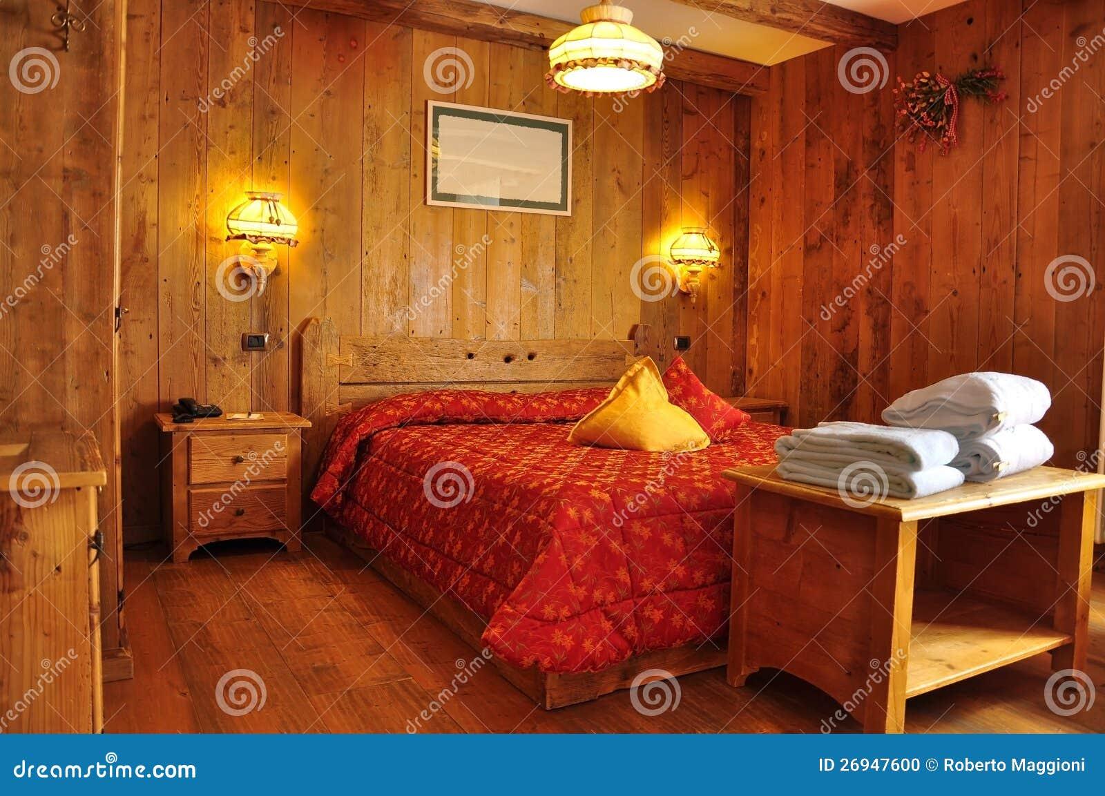 Acomodação tradicional, quarto de hotel da montanha