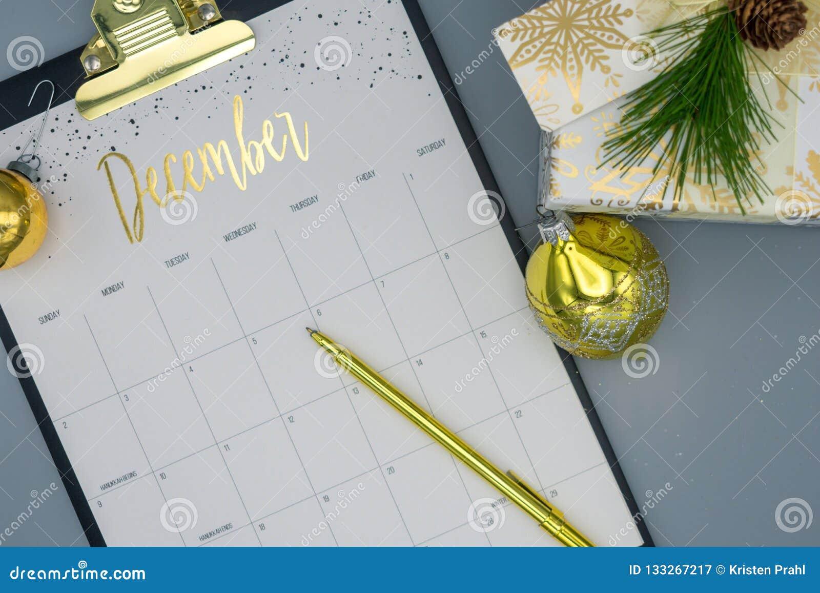 Acontecimientos de planificación para diciembre