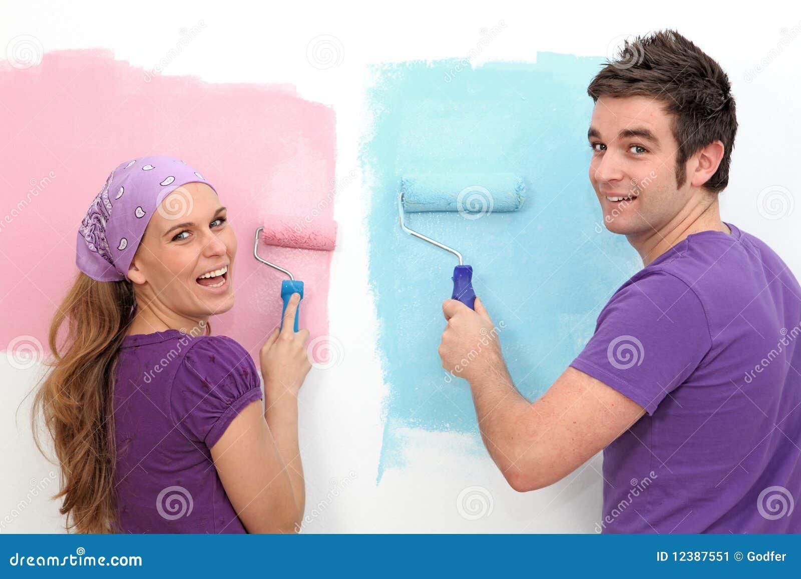 Acople a decoração da pintura