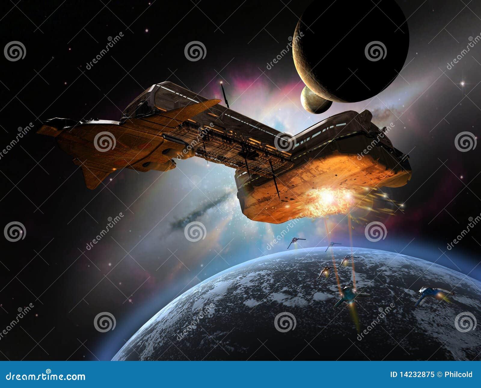 Acorazado en espacio