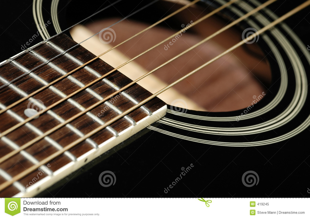 guitar and vibrations of the sound cartoon vector 18404203. Black Bedroom Furniture Sets. Home Design Ideas