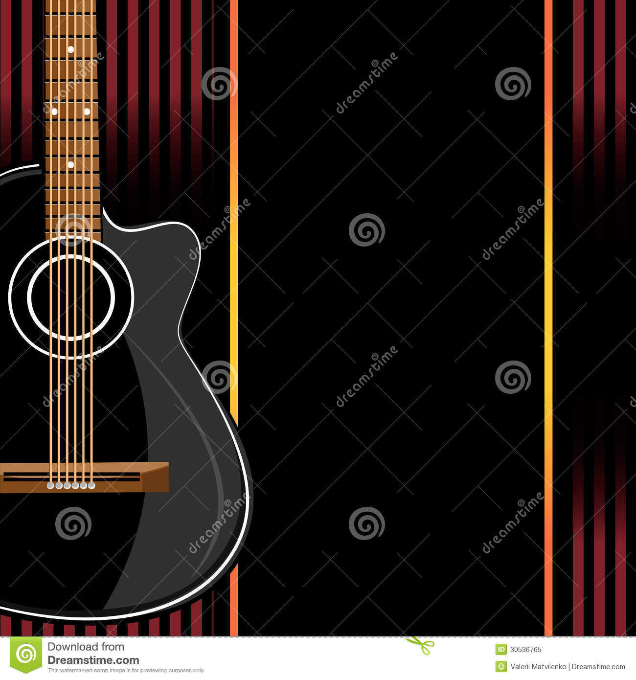 Acoustic Guitar On Abstract Background Royalty Free Stock ...