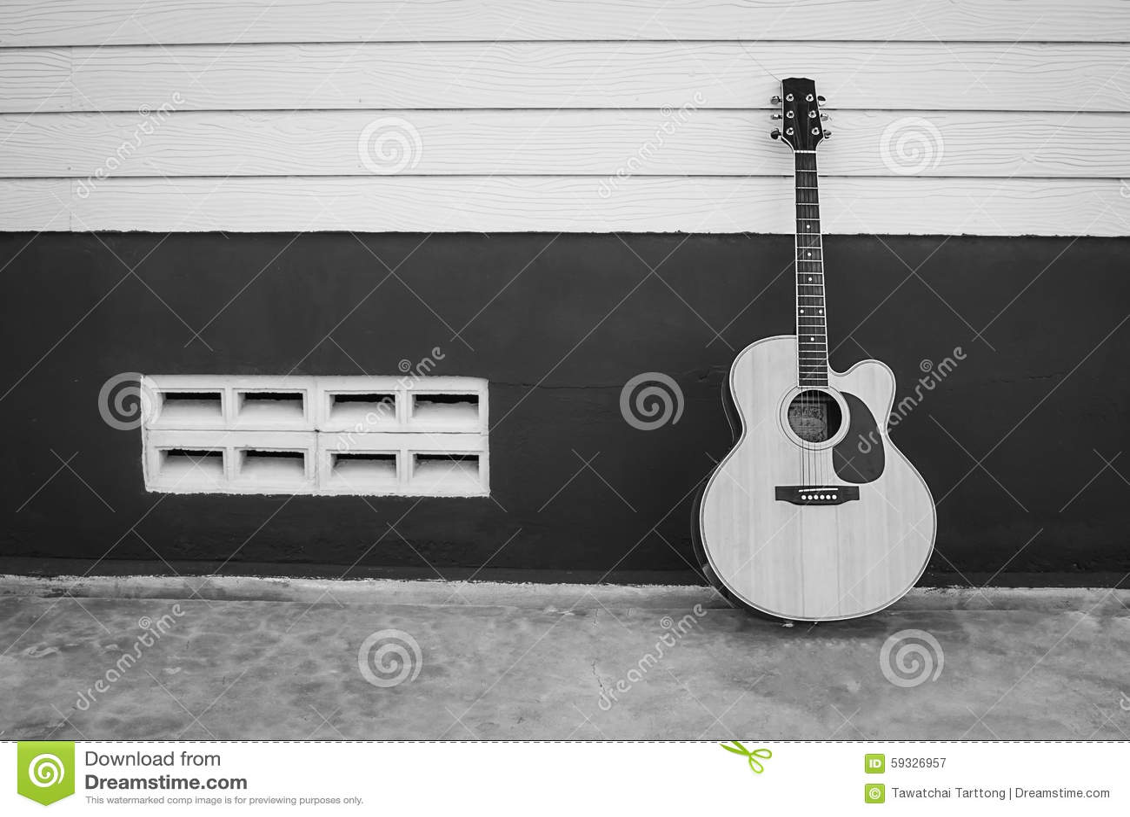 Acoustic Guitar Black White Color Stock Photos 451 Images
