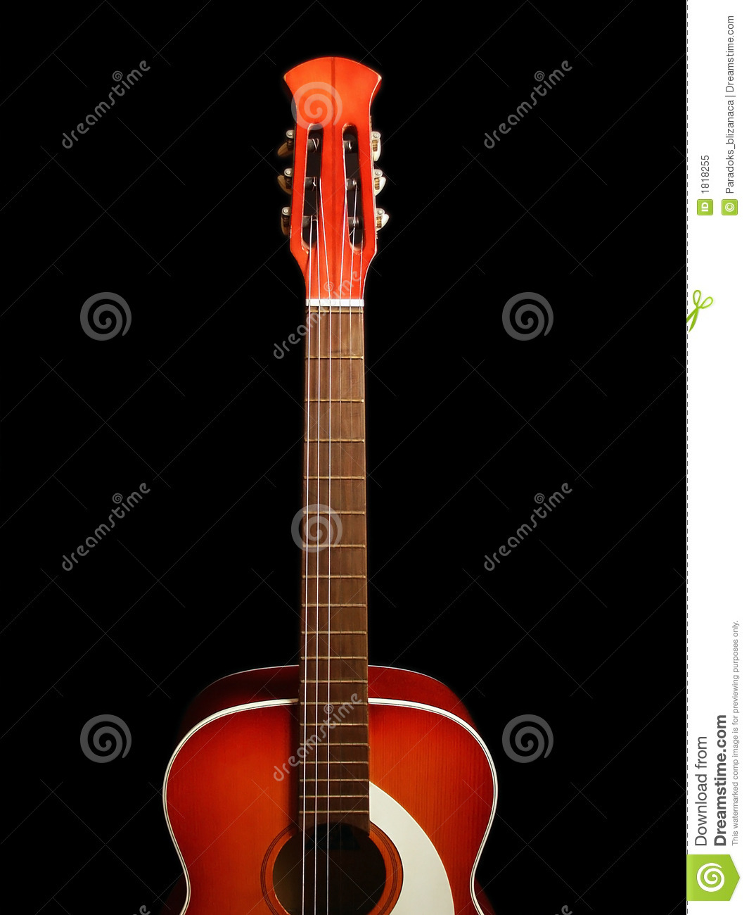 Acoustic Guitar On Black Background 5 Stock Image Image Of Guitar