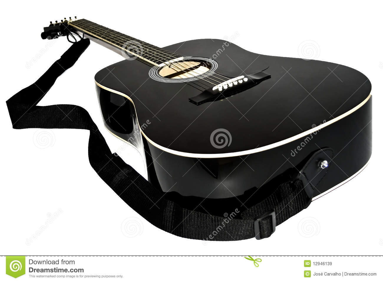 Acoustic Guitar Black Color Stock Image Image Of Sound Equipment