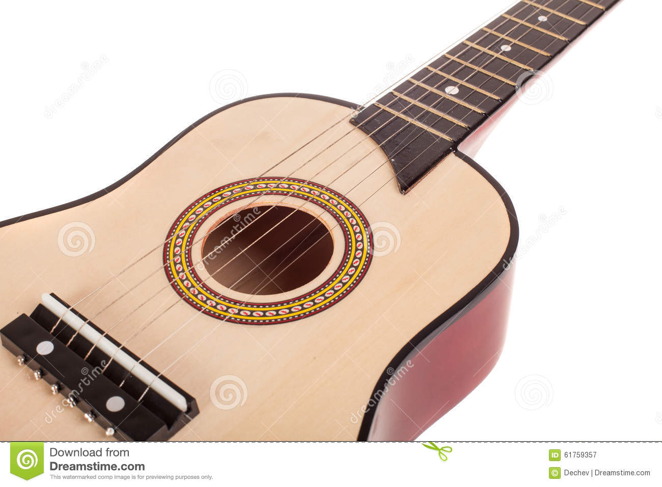 acoustic guitar bridge and strings close up isolated stock photo image 61759357. Black Bedroom Furniture Sets. Home Design Ideas