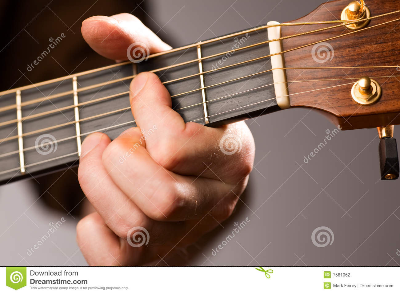 Acoustic Guitar Chord Stock Photo Image Of String Fretboard 7581062