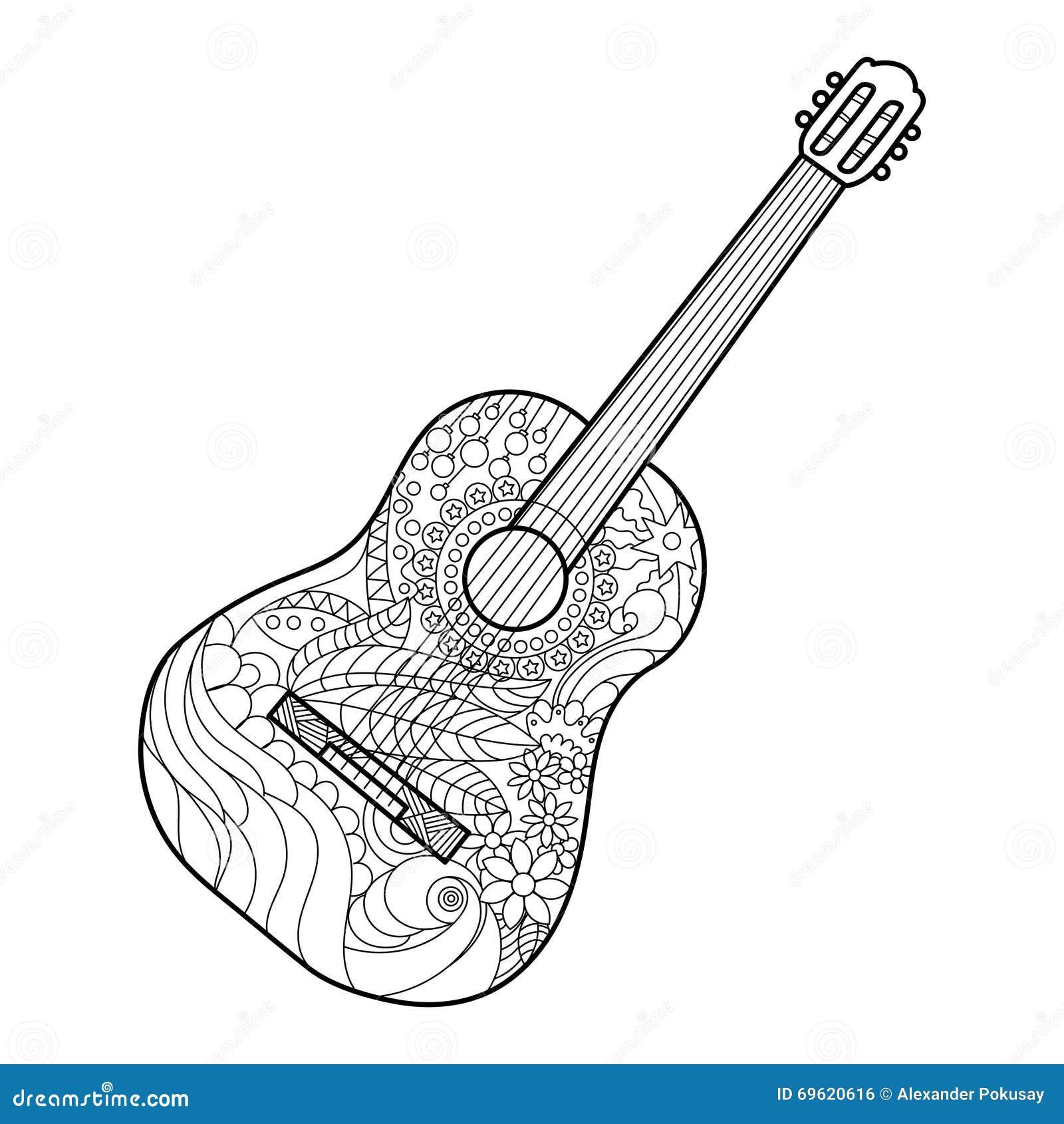 tattoo style guitar illustration vector illustration