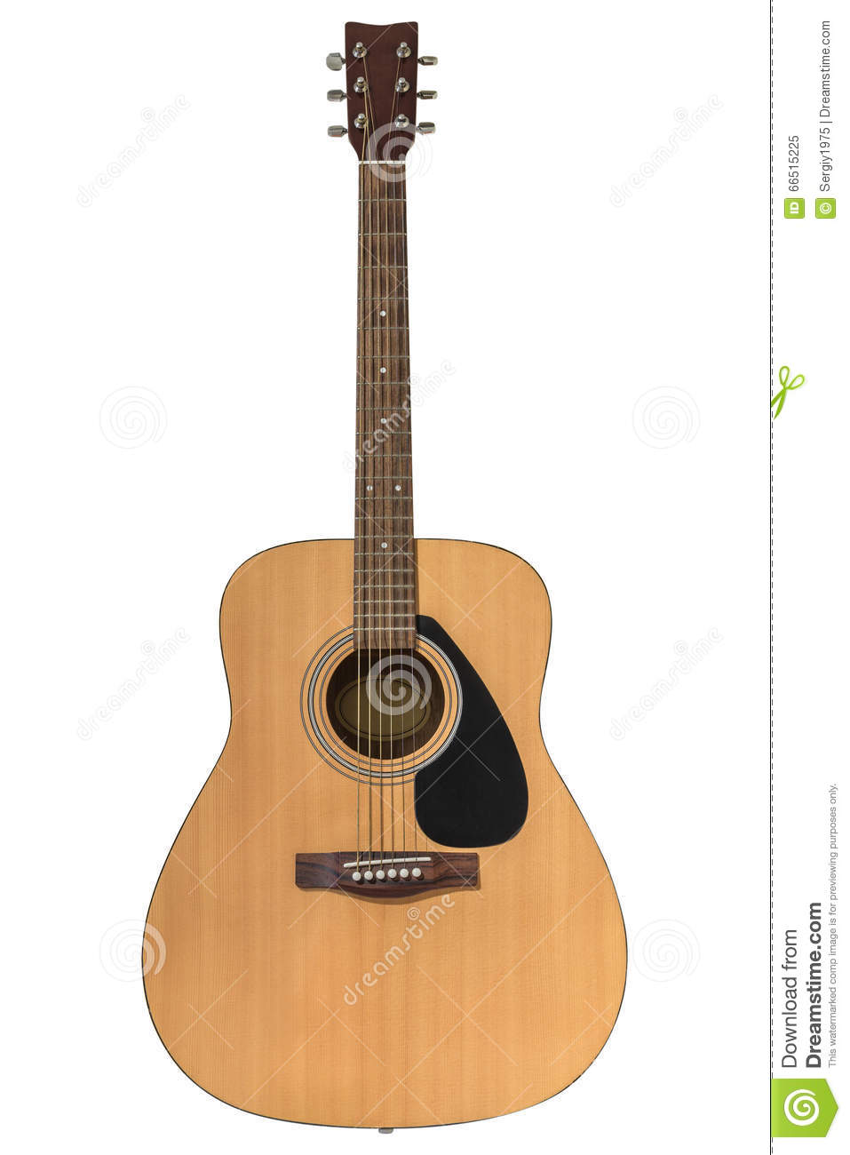 Acoustic Guitar Isolated On A White Background Stock Image Image