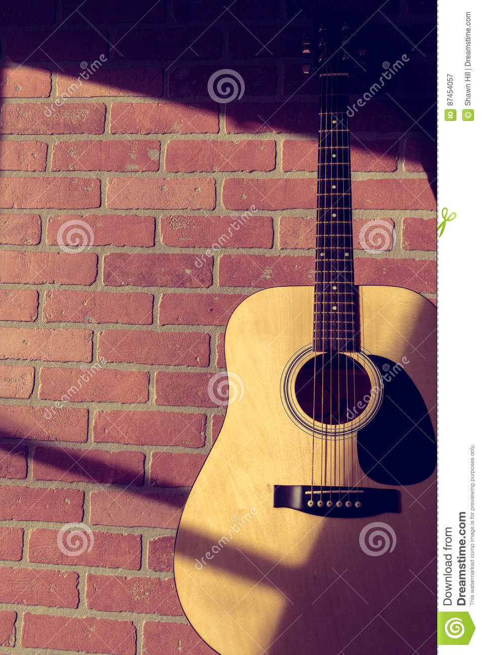 Guitar and wall royalty free stock image cartoondealer for 67 st pauls terrace spring hill