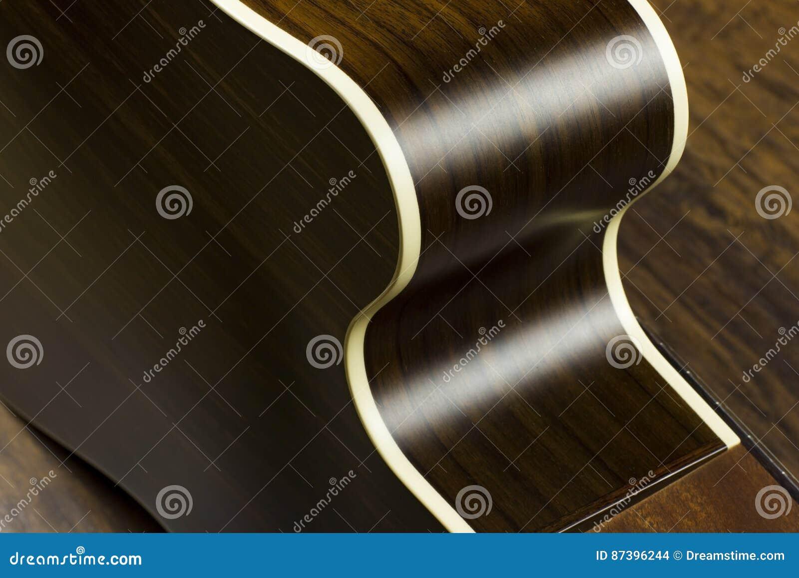 Acoustic Guitar Music Case Close Inlay Creativity Art Sound