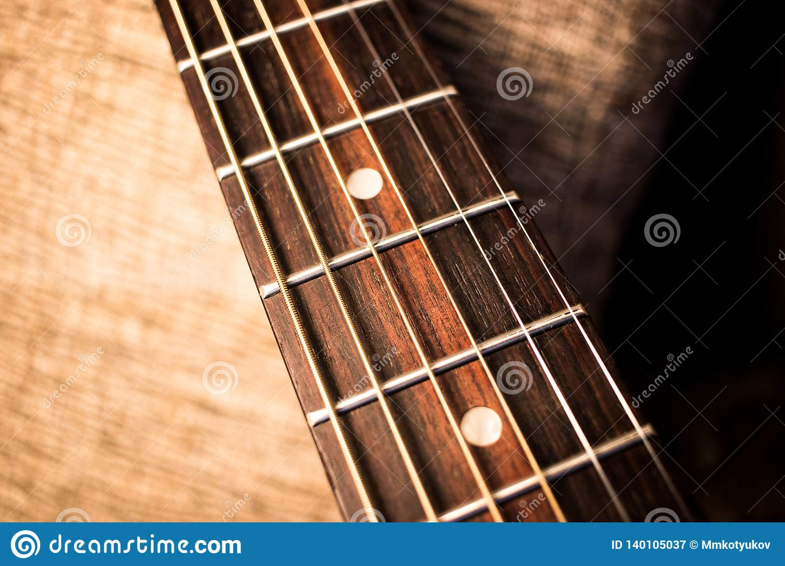 Acoustic guitar neck abstract