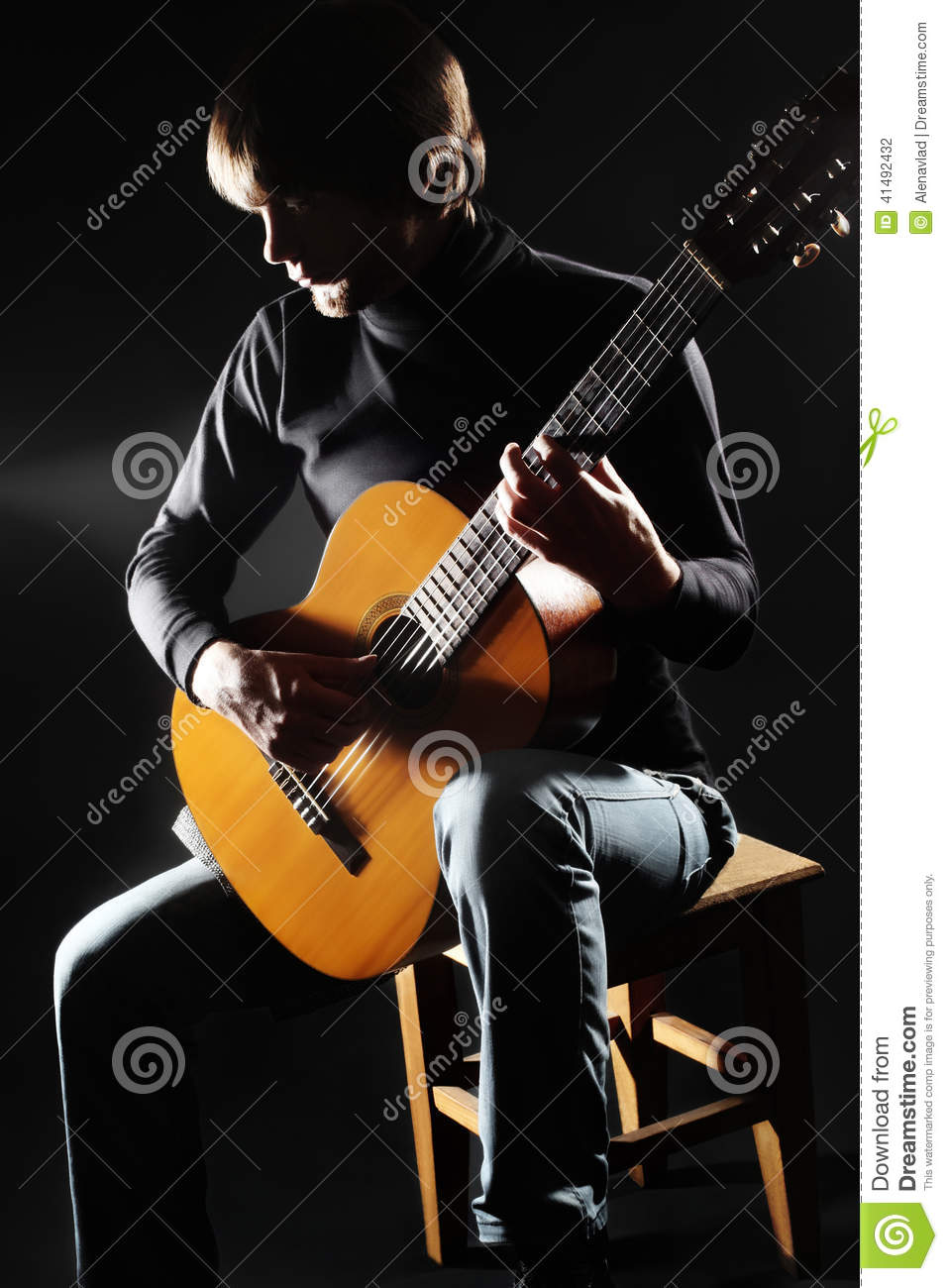 acoustic guitar player on the concert stock photo image. Black Bedroom Furniture Sets. Home Design Ideas