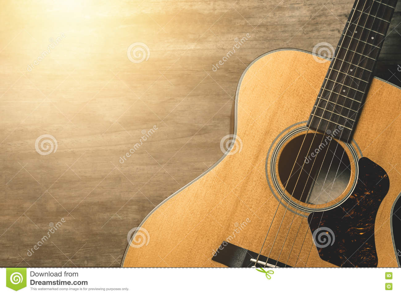 Acoustic guitar stock photo  Image of sound, effect, modern - 76919528