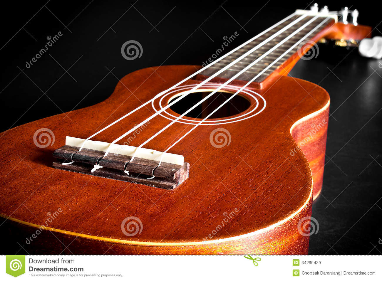 Acoustic Ukulele Hawaii Guitar Royalty Free Stock Images