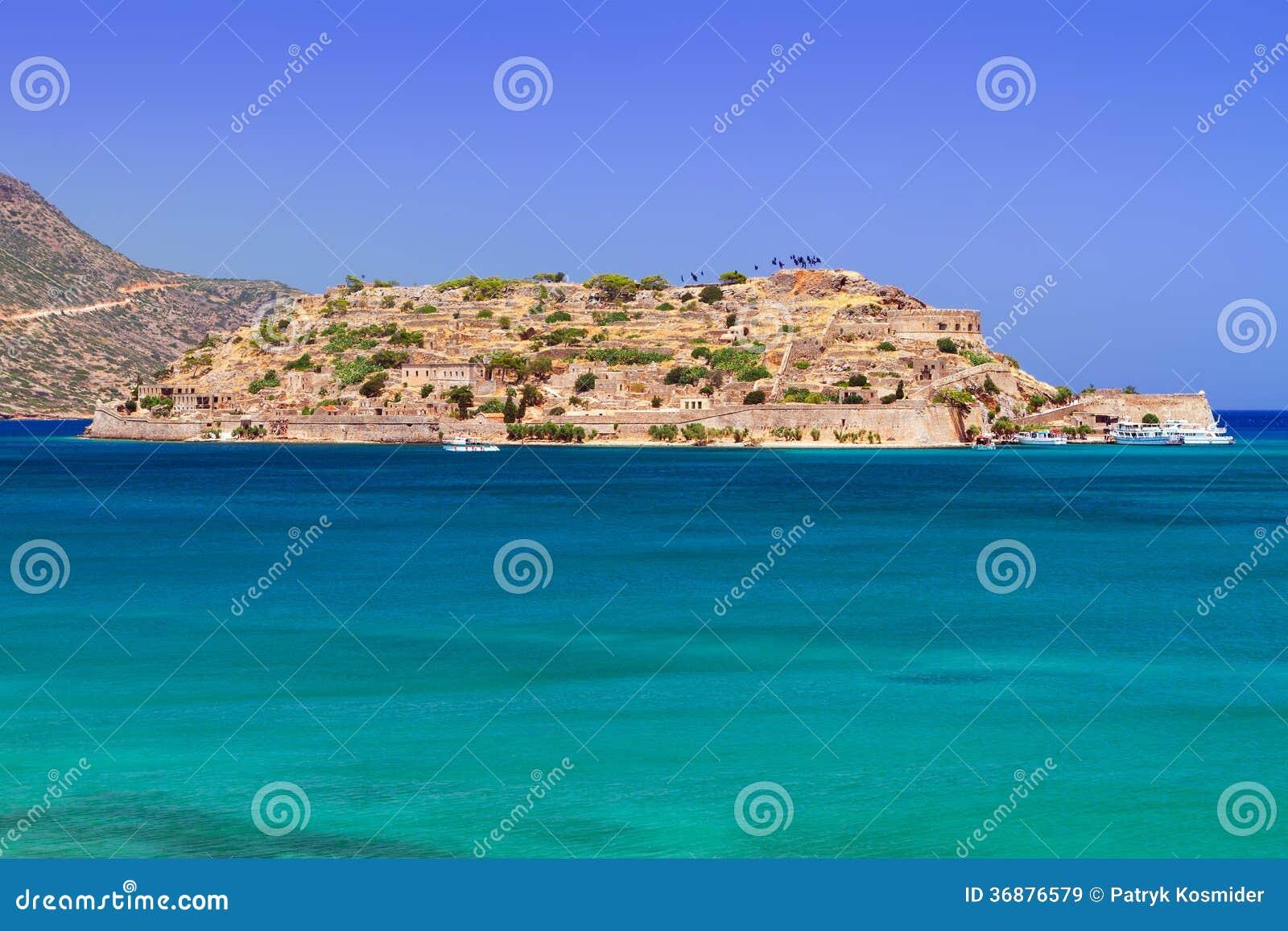 Download Acqua Di Turquise Della Baia Di Mirabello Su Creta Immagine Stock - Immagine di litorale, stupore: 36876579