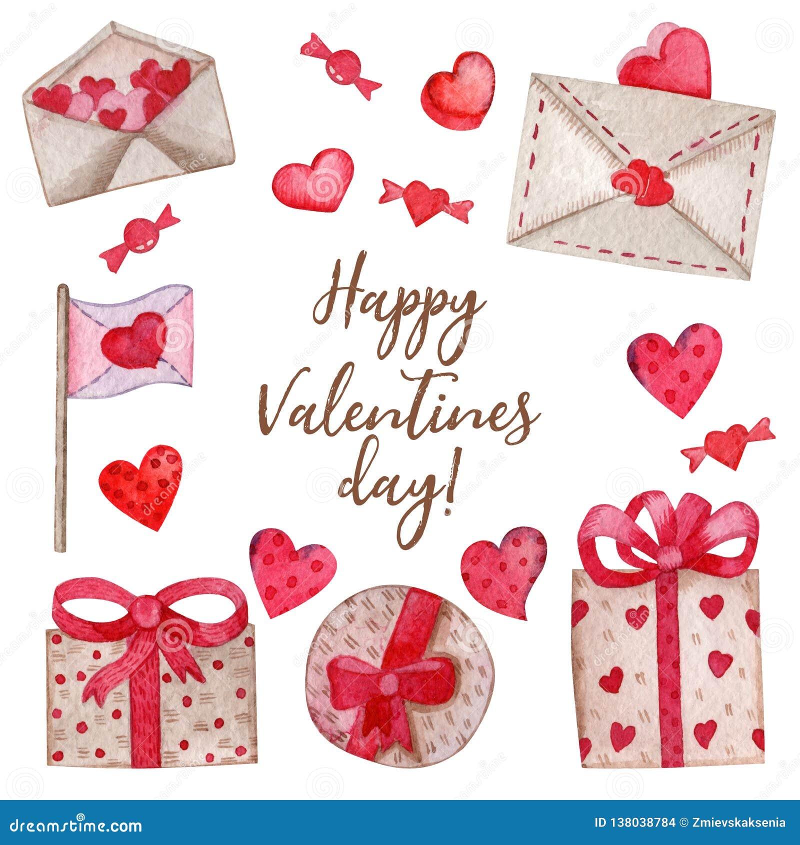 Acquerello messo per il San Valentino