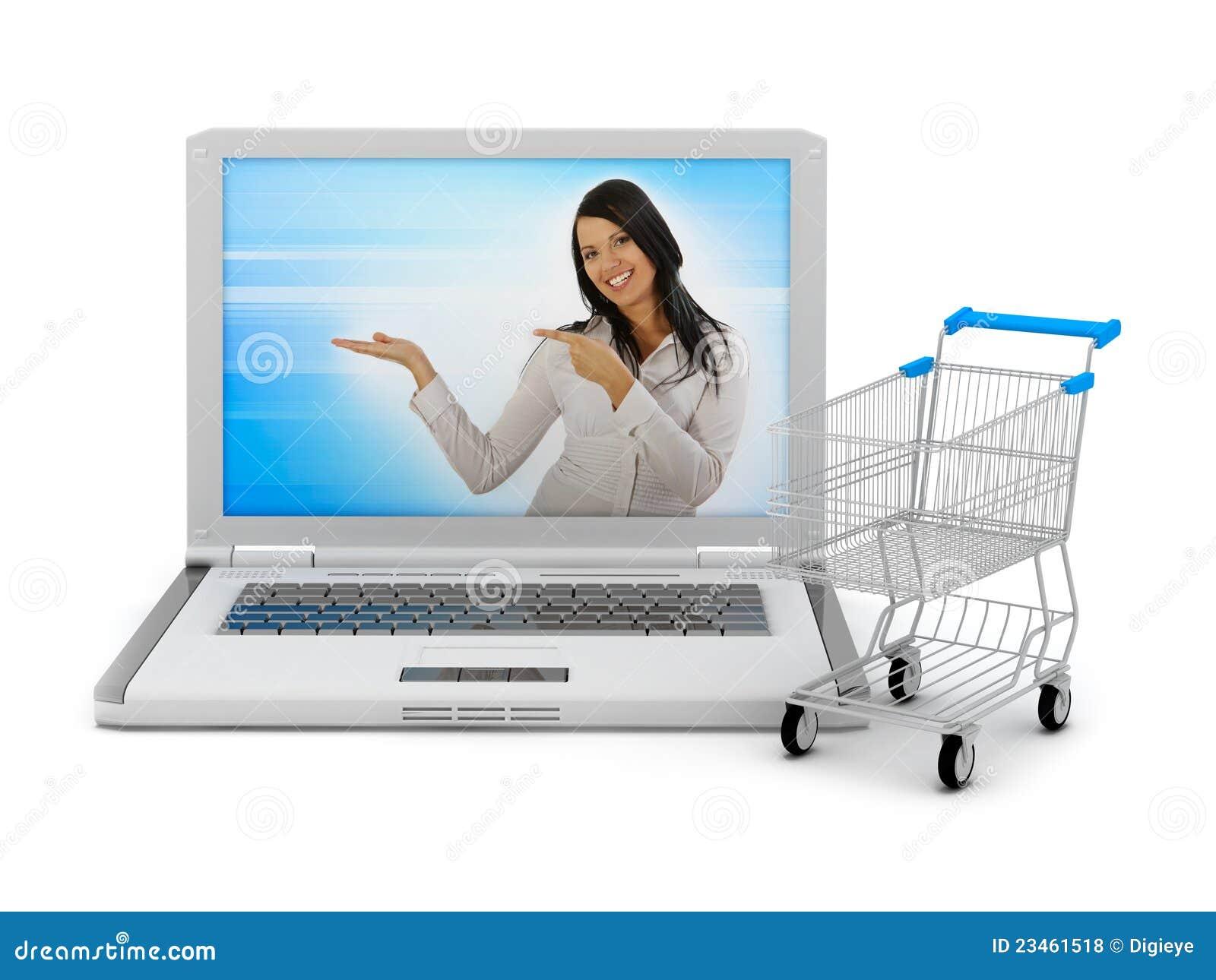 ce6cea792072b2 Acquisto Del Internet - Computer Portatile E Carrello Di Acquisto ...