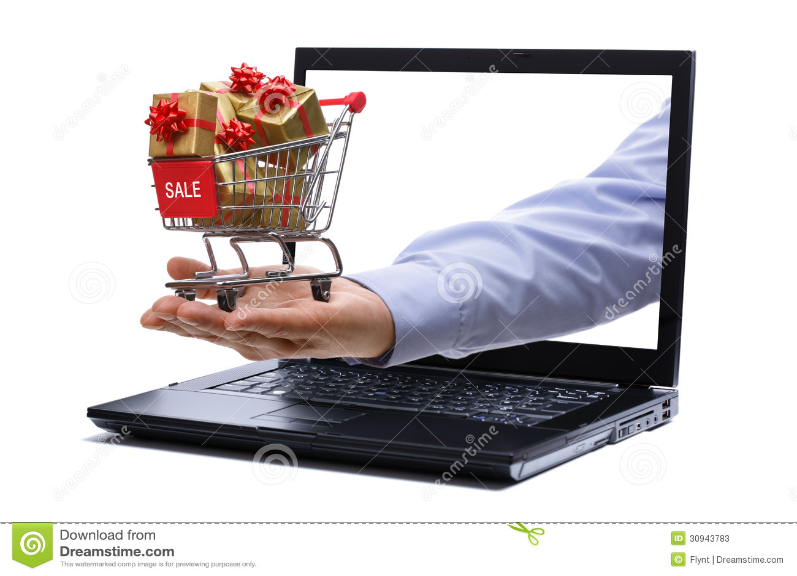 Acquisto del regalo di commercio elettronico