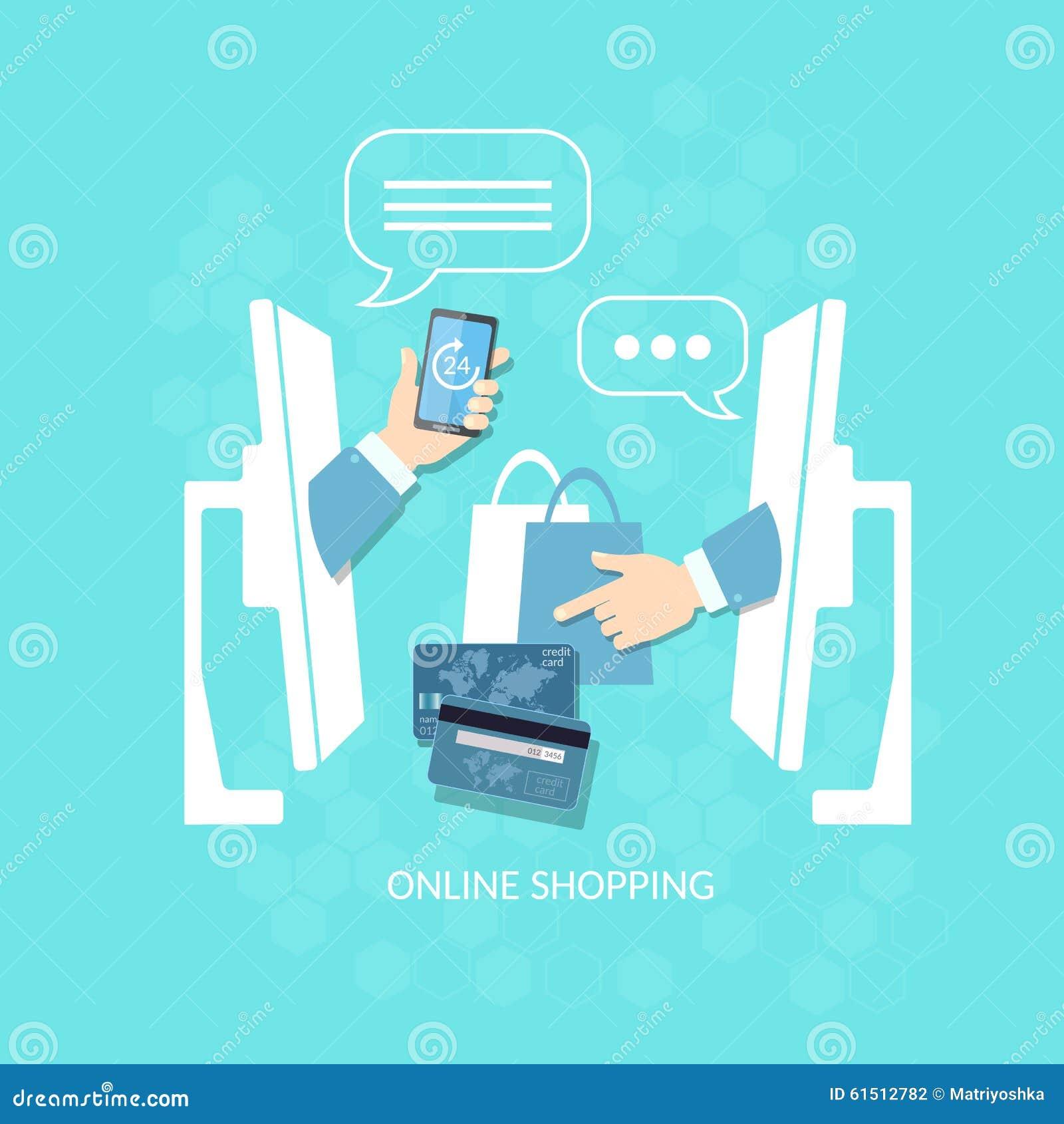 Acquisto di acquisto online di commercio elettronico e vendere pagamento di Internet
