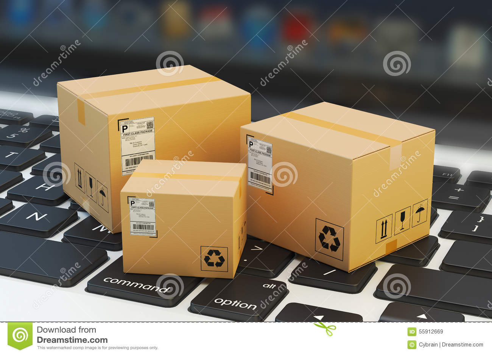 7d327d8e5be343 Acquisto di Internet, concetto online di consegna dell acquisto, di  commercio elettronico e dei
