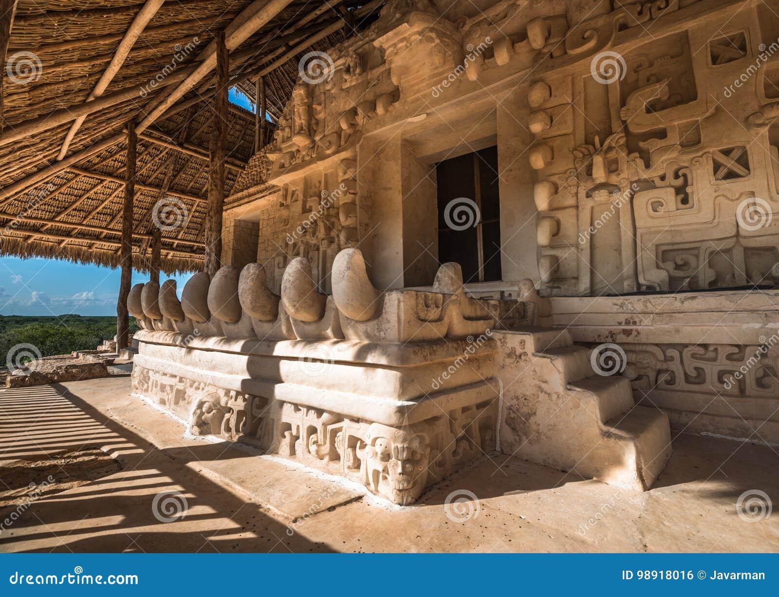 Acrópolis, la estructura más grande en las ruinas de Ek Balam, Yucatán, yo