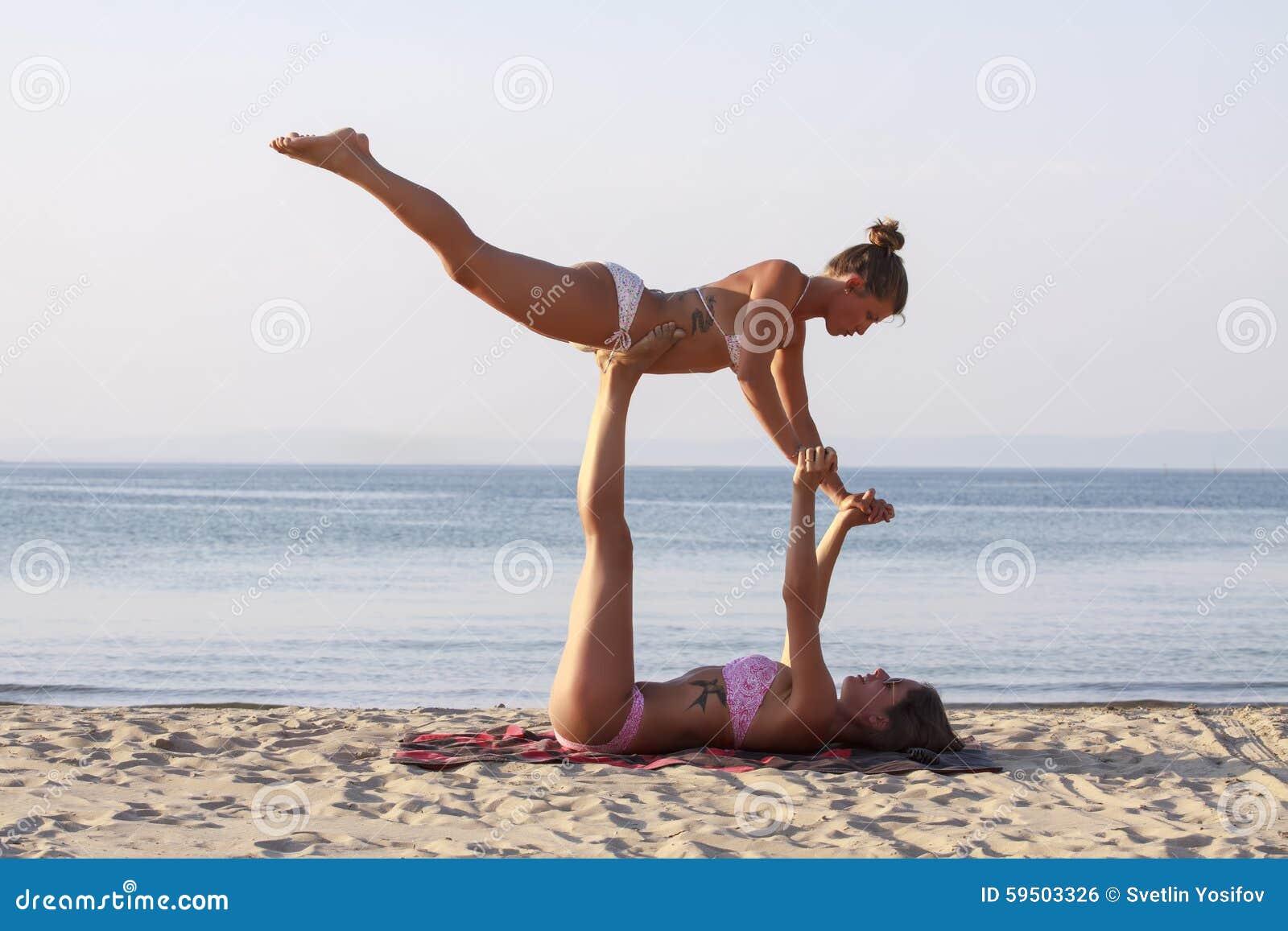 Acro Yoga II Stock Photo - Image: 59503326