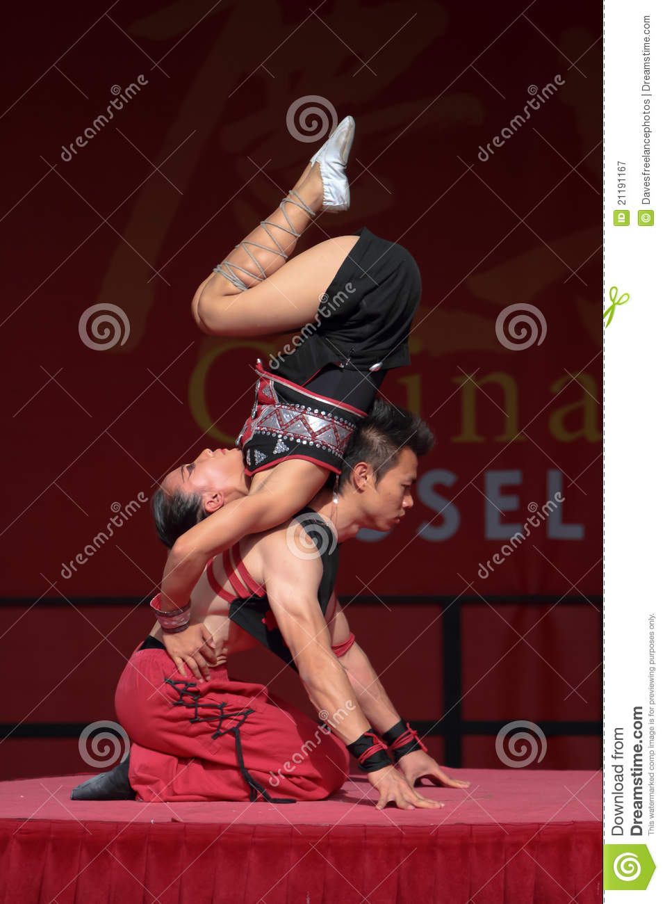 Acrobat of the Chinese State Circus.