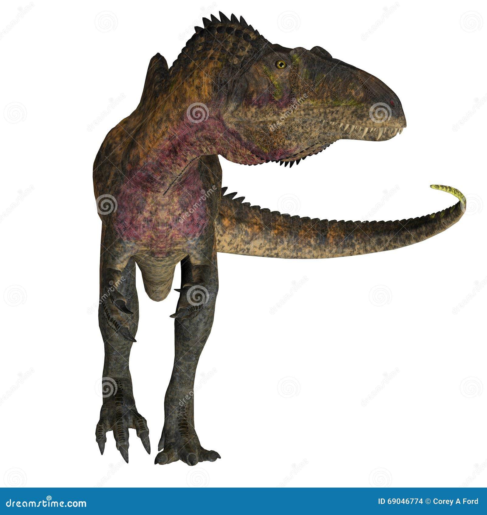 Dinosaurs Era Acrocanthosaurus On Wh...