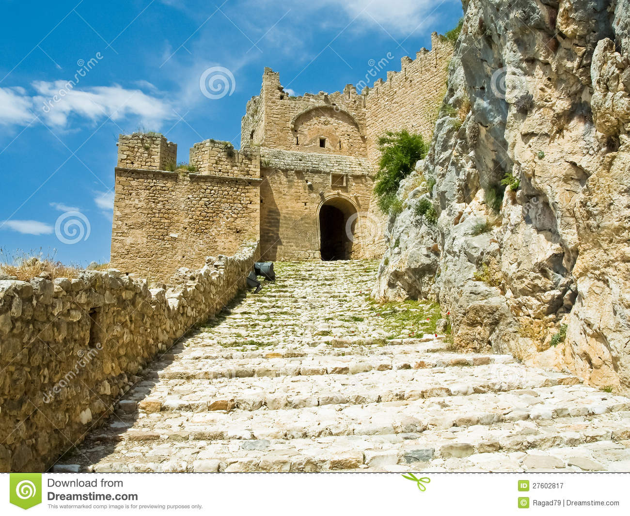 Acrocorinth Fortress Gate Royalty Free Stock Photography ...