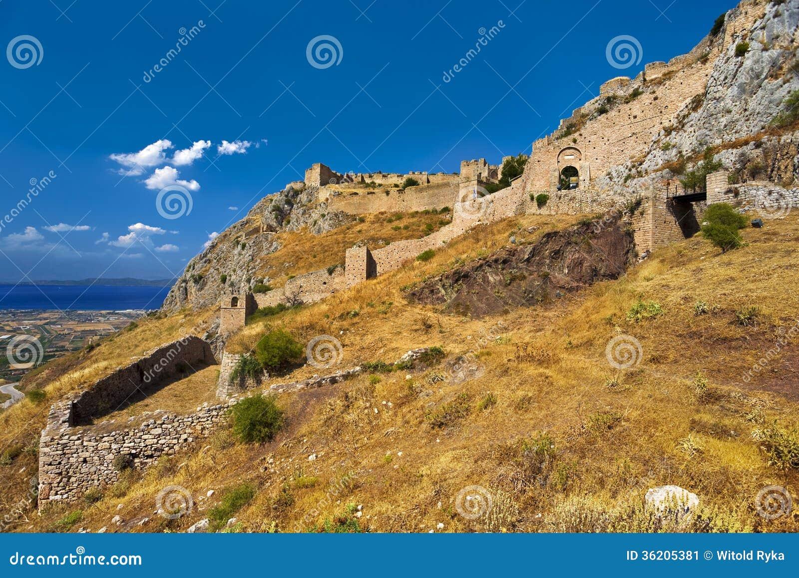Acrocorinth, Greece Stock Image - Image: 36205381
