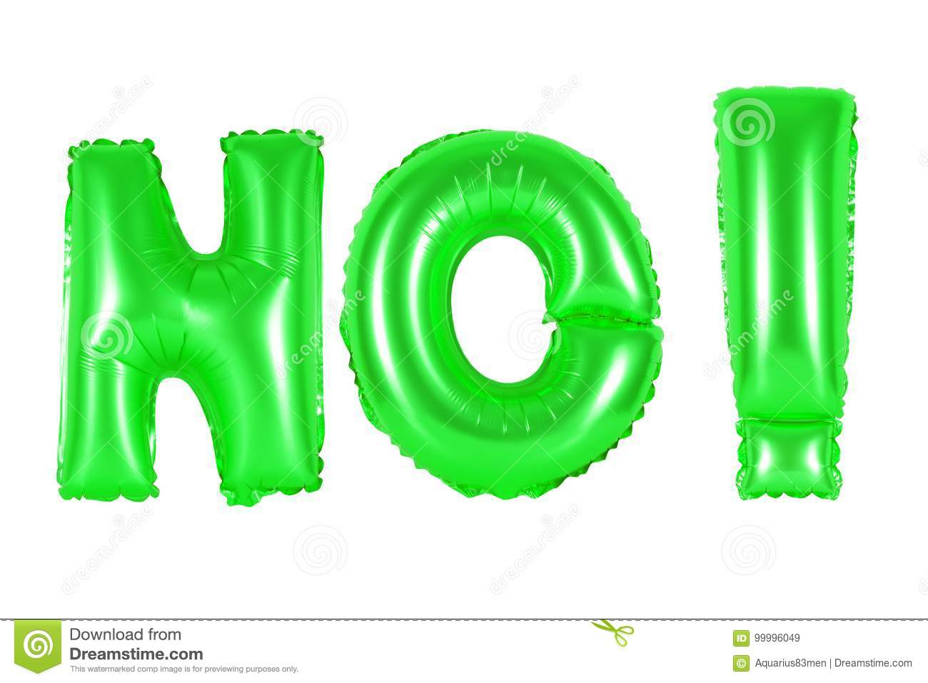 Acronym And Abbreviation, No, Green Color Stock Image - Image of ...