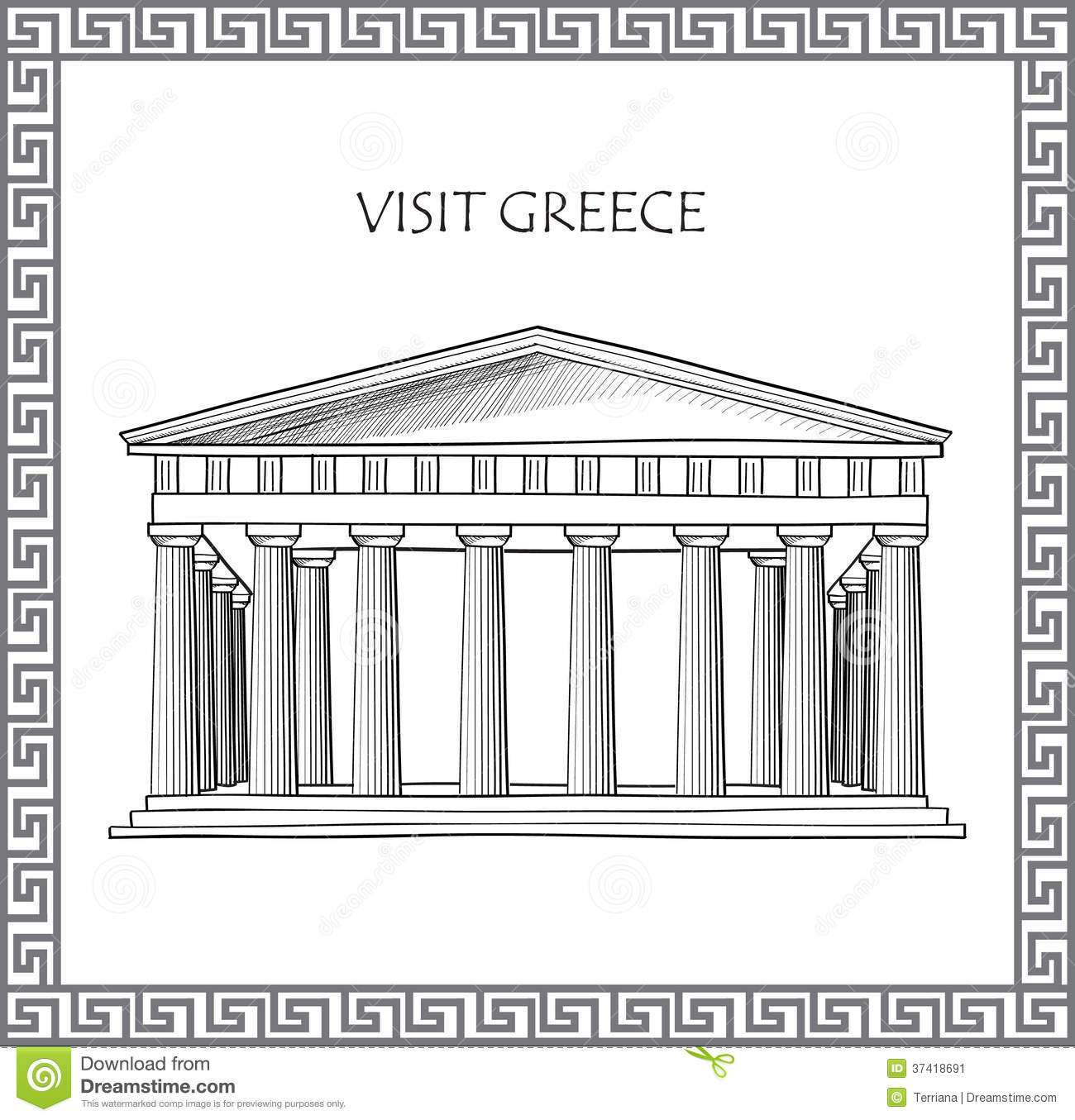Draw House Plans Free Acropolis In Athens Greece Sketch Of Historic Building