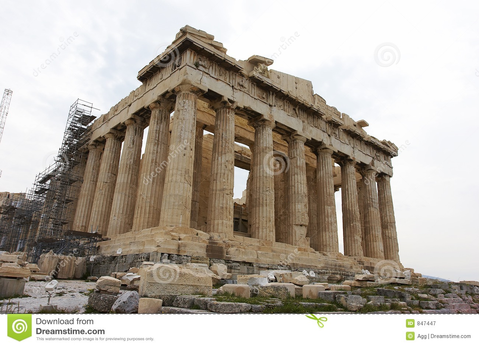 Acropolis Undergoing Reconstruction