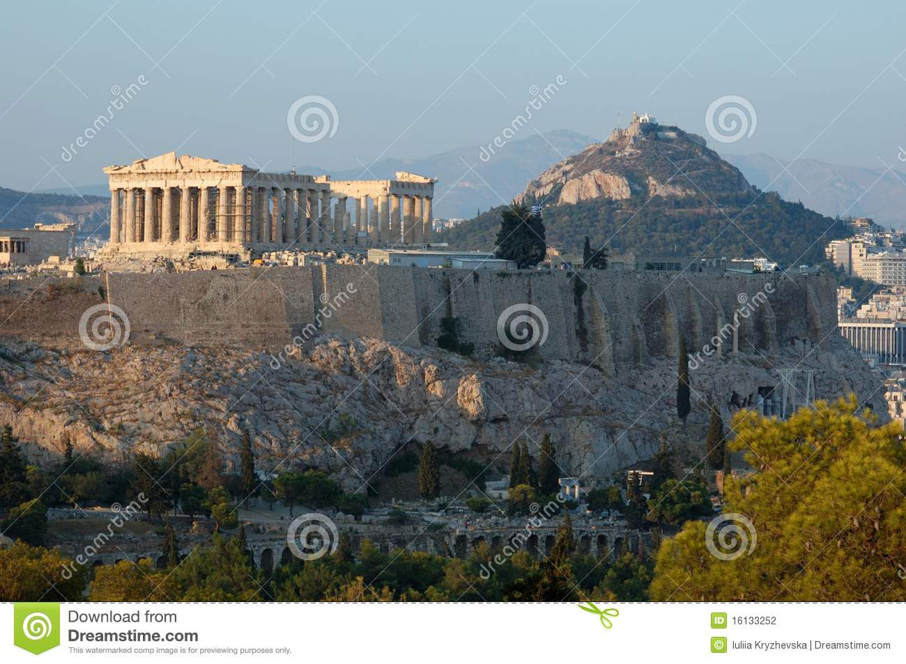 Acropolisathens berömd greece landmark