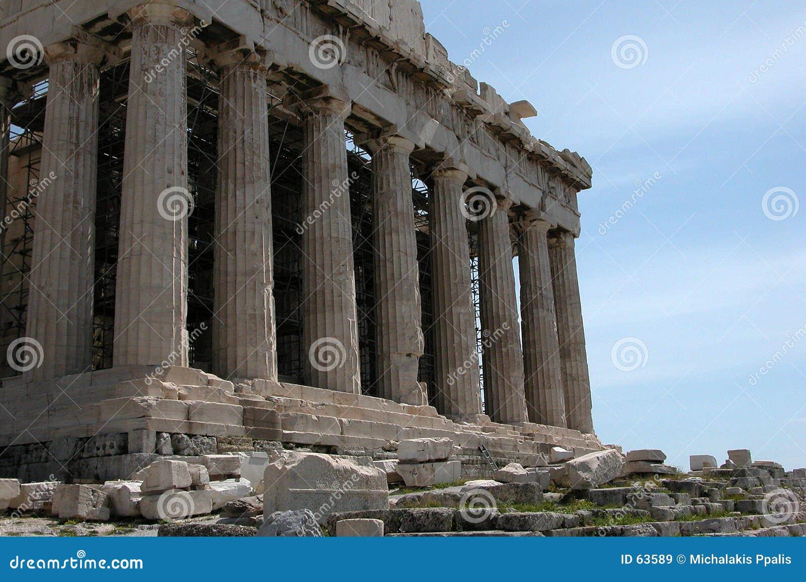 Download Acropolisparthenon fotografering för bildbyråer. Bild av medelhavs - 63589