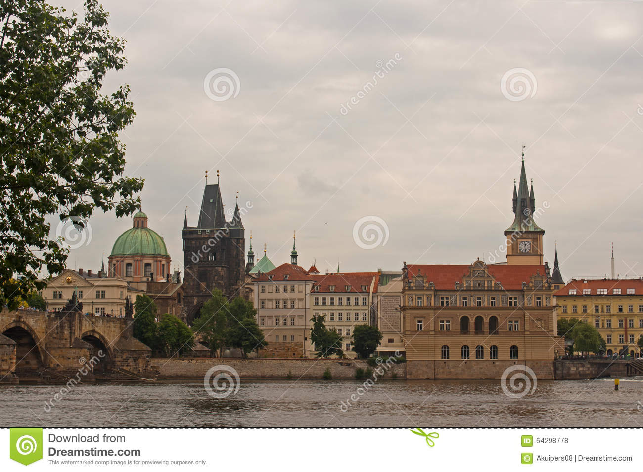 Across the vltava river stock photo image 64298778 for Where is prague near
