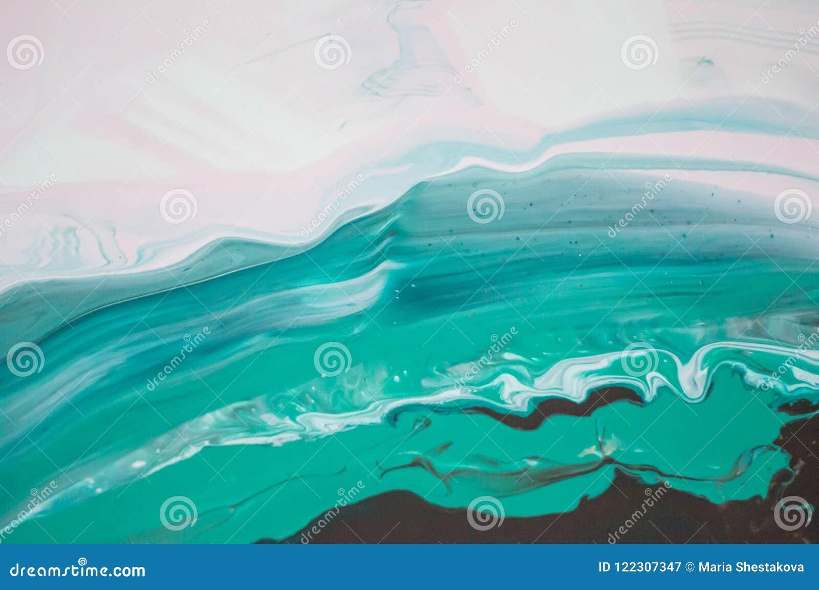 Acryl, Farbe, abstrakt Nahaufnahme der Malerei Bunter abstrakter Malereihintergrund Hoch-strukturierte Ölfarbe Hohe Qualität