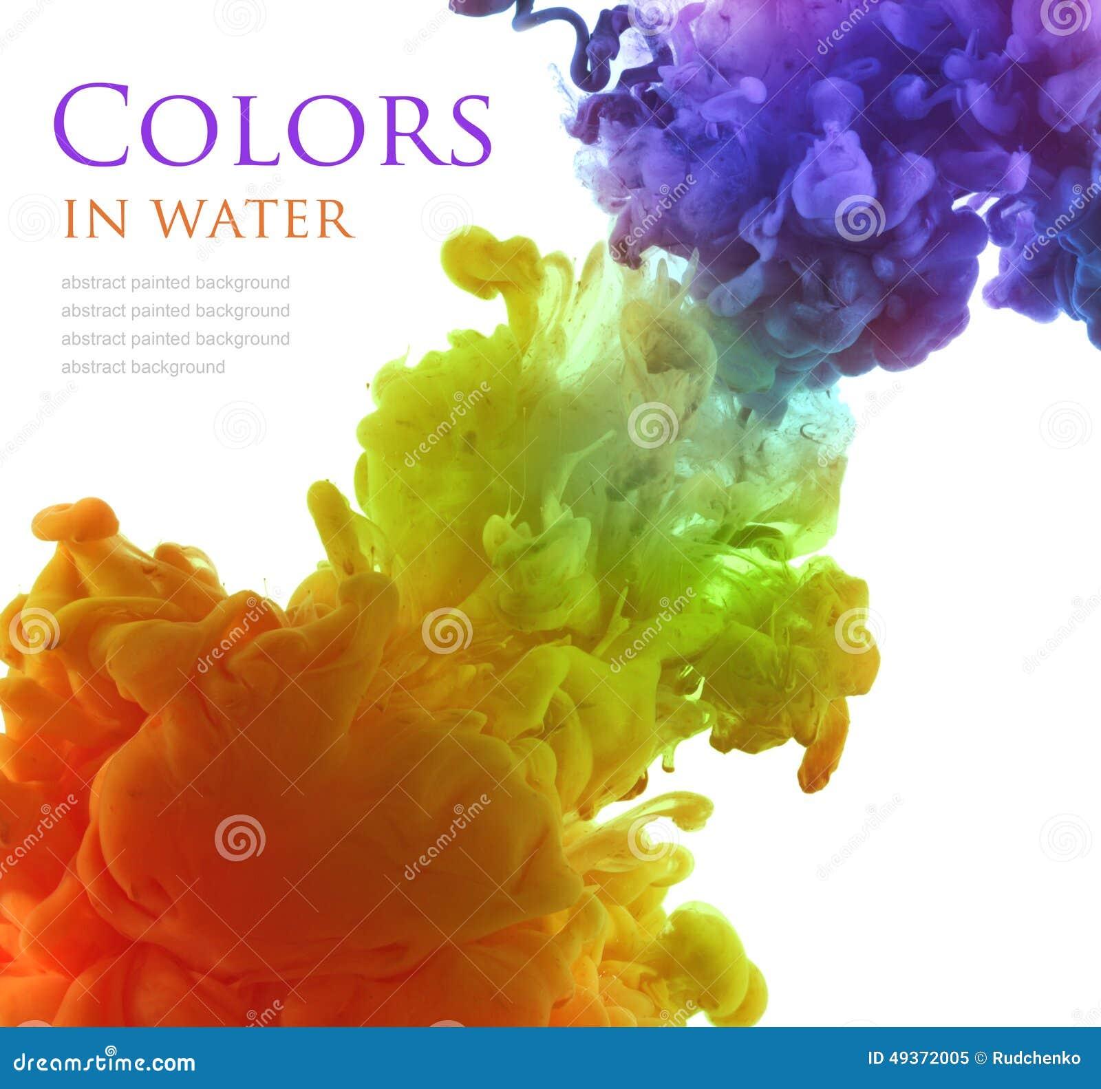 Acrylfarben im Wasser entziehen Sie Hintergrund
